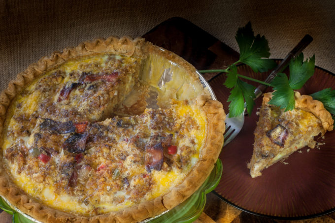 boudin-quiche-is a an easy Cajun recipe.