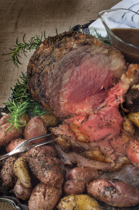 Coffee-Rubbed Prime Rib--a royal recipe!