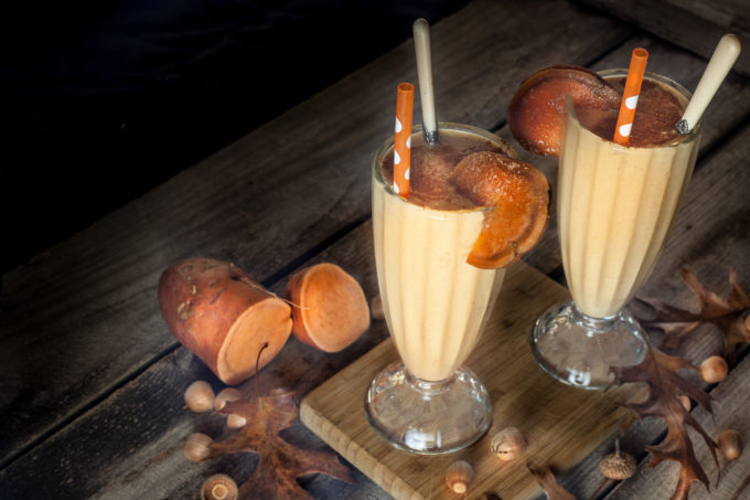 Creamy, dreamy Sweet Potato Shake made with Louisiana sweet potato. Welcome to fall in Acadiana! (All photos credit: George Graham)