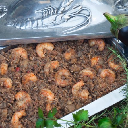 Eggplant Casserole with Gulf Shrimp