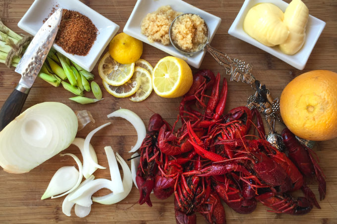 A few simple ingredients add enormous flavor to my Two-Step Boiled Louisiana Crawfish.