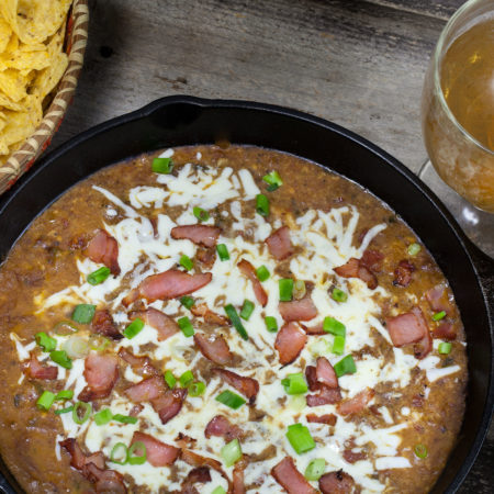 Tasso Chili Cheese Dip and Frito Chili Pie