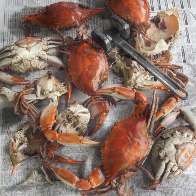 Boiled Louisiana Blue Crabs