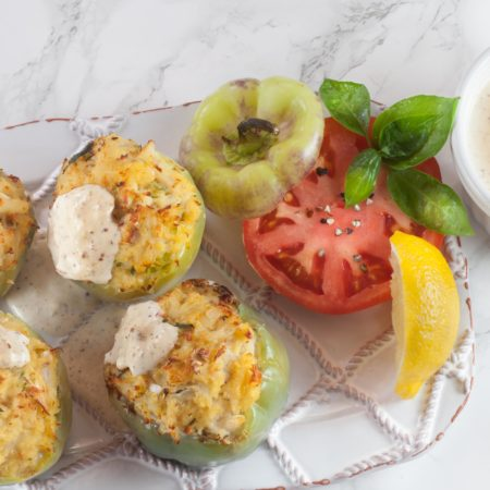 Mini Bell Peppers Stuffed with Crabmeat