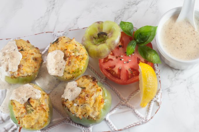 These little Mini Bell Peppers Stuffed with Crabmeat are bursting with Louisiana flavor. (All photos credit: George Graham)