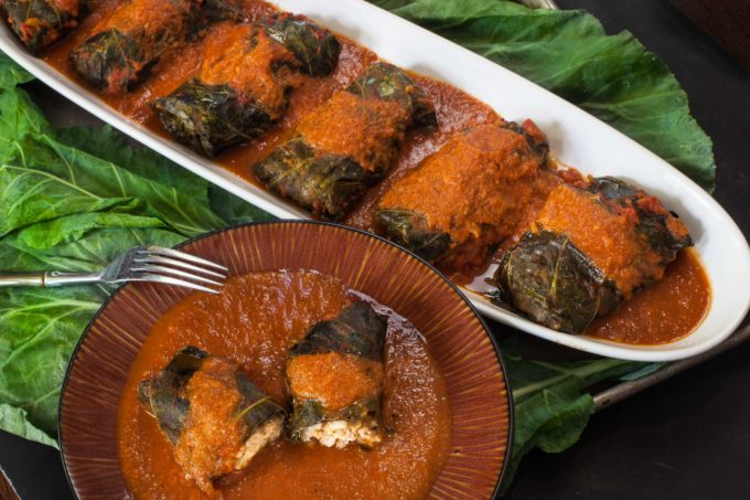Bundles of flavor, these Stuffed Collard Rolls are easy and delicious. (All photos credit: George Graham)
