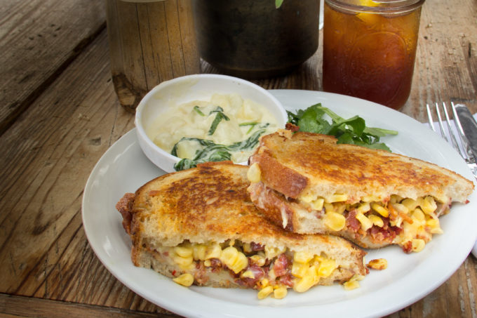 With a crispy finish, this Griddled Corn Panini combines the freshest summer ingredients. (All photos credit: George Graham)