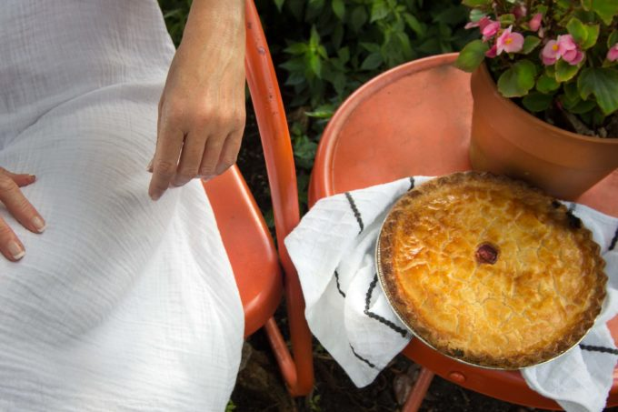 Freshly baked cherry pie, a sweet Southern tradition.