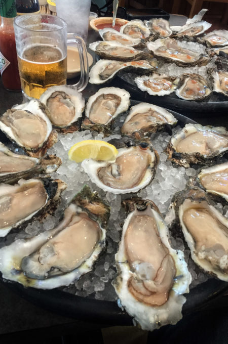 Oysters by the dozen at Felix's Oyster Bar!