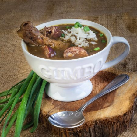 Chicken Leg and Sausage Gumbo