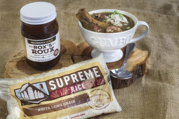 Rox's Roux and Supreme Rice: A match made in gumbo heaven. (All photo credit: George Graham)