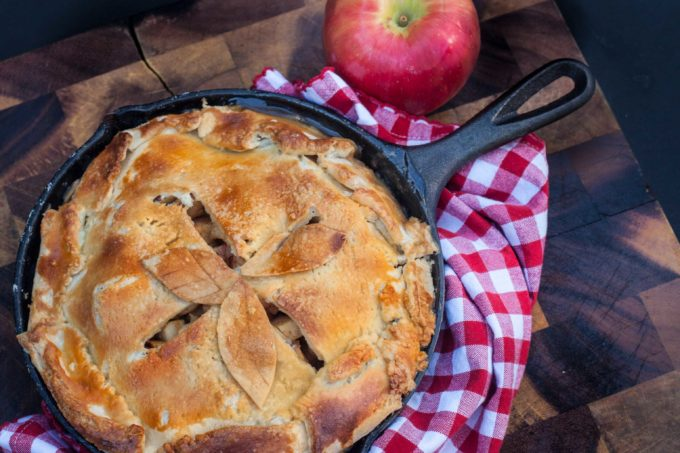 With its unstructured piecrust baked in a cast-iron skillet, Lo's Apple Pie is a rustic Southern classic.