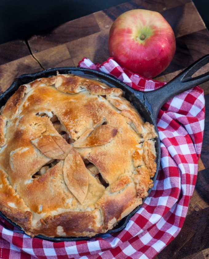 Baked in a black iron skillet, Lo's Apple Pie is a Graham family tradition.