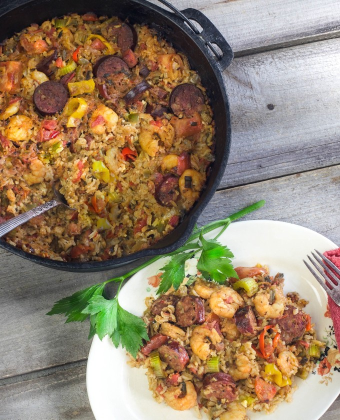 Smoked deer sausage takes center stage with Gulf shrimp in this Creole combination of Smoked Deer Sausage and Shrimp Jambalaya.