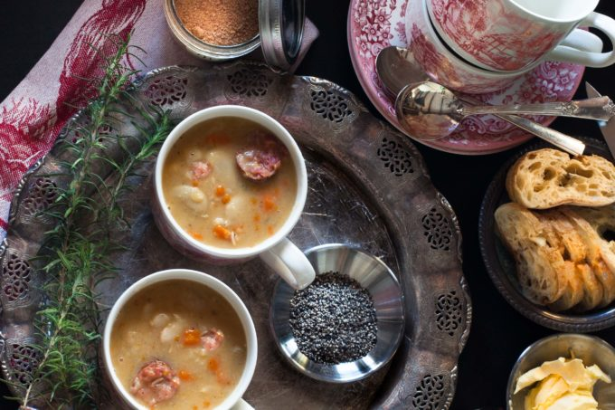 Andouille Sausage and White Bean Soup