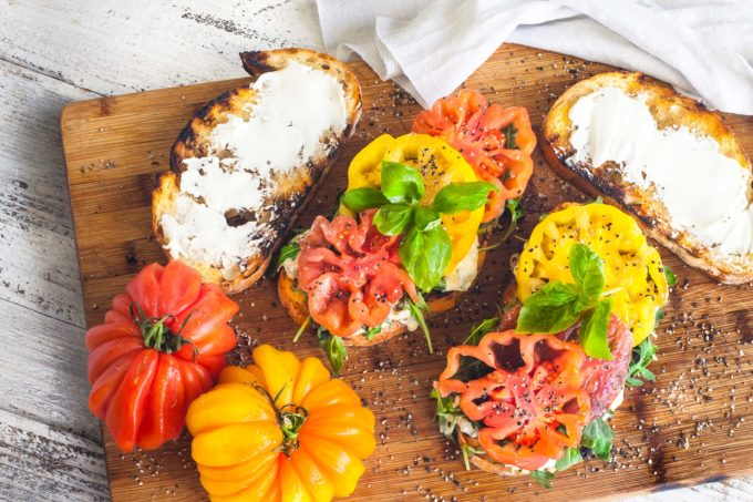 Heirloom tomatoes bursting with flavor are the stars in this Southern sandwich.