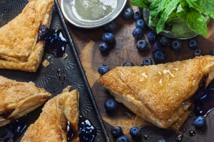 Crispy golden brown, my Blueberry Basil Pastry is oozing with fresh flavors.