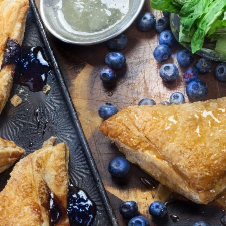 Singin' the blues with my Blueberry Basil Pastry