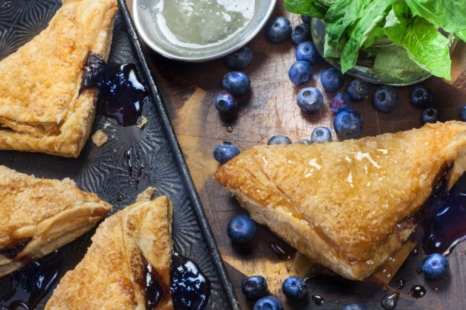 Crispy golden brown, my Blueberry Basil Pastry is oozing with fresh flavors. (All photos credit: George Graham)