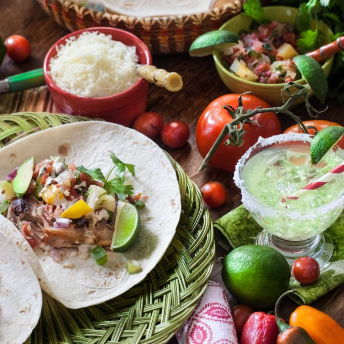 Festive and fun, dinner becomes a party with my Pulled Pork Tacos.