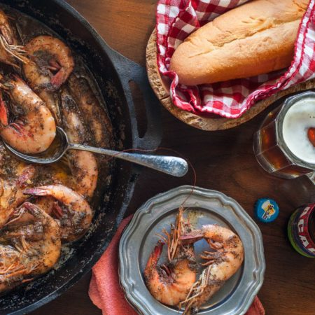 These BBQ Shrimp are bathed in butter and herbs.  (All photos credit: George Graham)