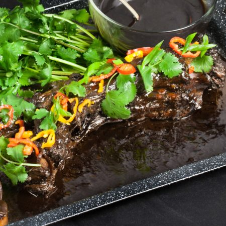 Whole Braised Oxtail with Pepper Jelly Glaze