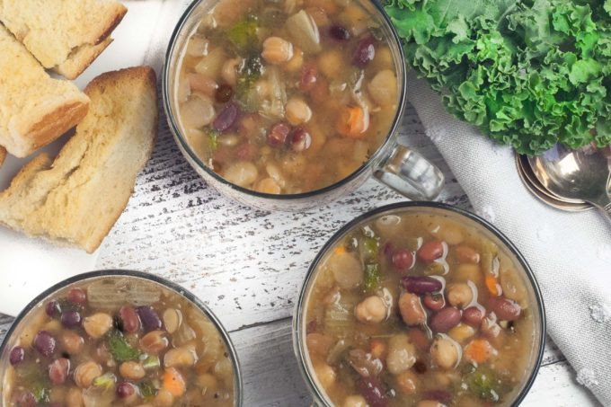 This 5-Bean Kale Soup delivers a wallop of flavor. (All photos credit: George Graham)