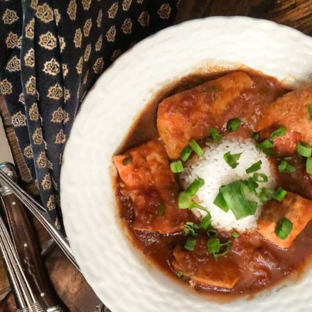 A classic South Louisiana recipe, Redfish Sauce Piquante is rich with tomatoes and spice. (All photos credit: George Graham)