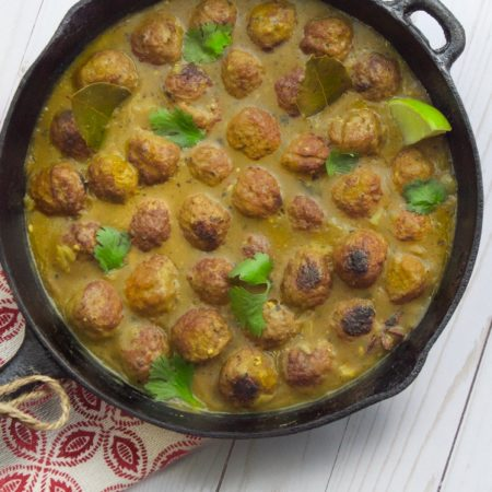 Curried Meatballs Skillet