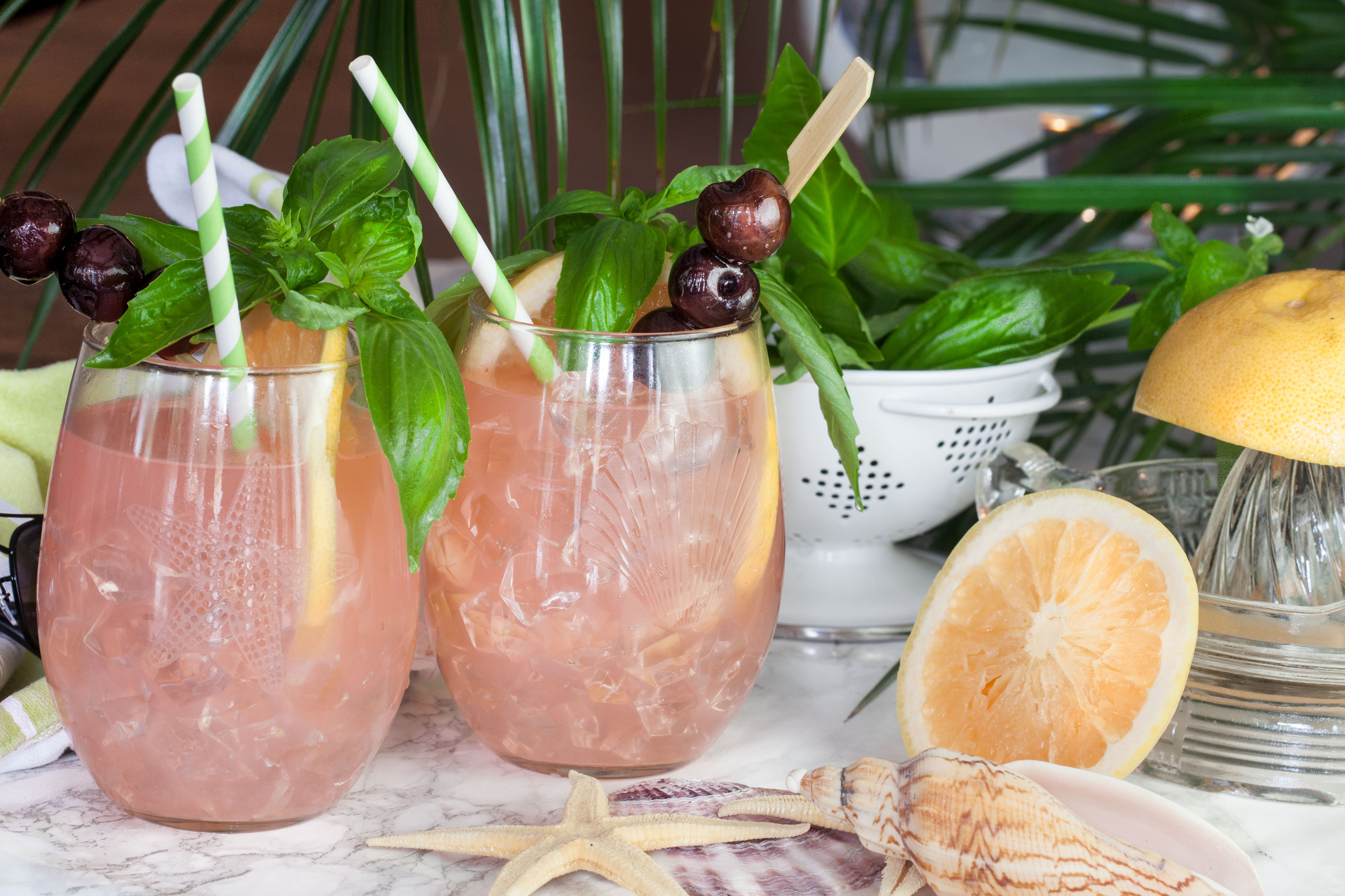 Grapefruit Basil Cooler - Acadiana Table