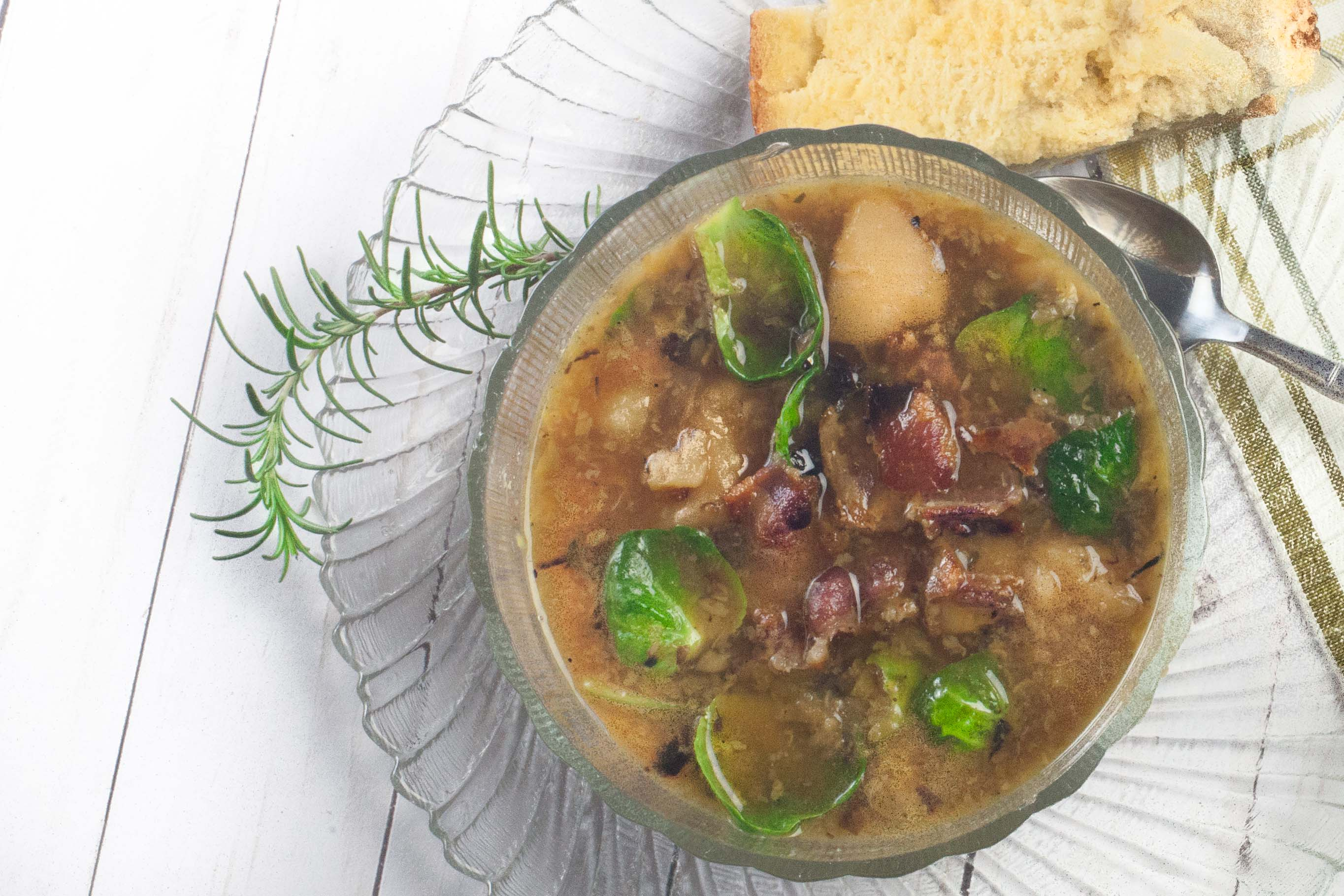 Potato and Brussels Soup - Acadiana Table