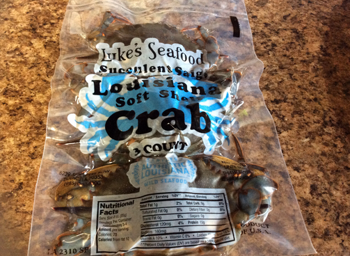 Flash-frozen and vacuum packed, the Luke family sells their 3-pack of softshell crabs. (Photo credit: Internet archive)