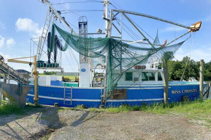 Docked at the Port of West St. Mary, the Miss Chrystel fishes for shrimp out of Vermilion Bay. (Photo credit: Roxanne Graham)