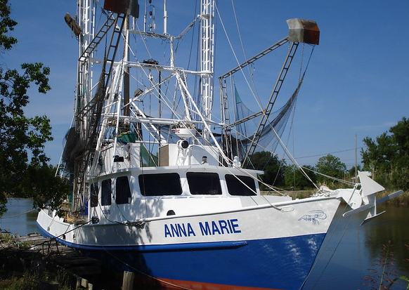 The Anna Marie has state-of-the-art plate-freezing units on board. )Photo credit: Internet archive)