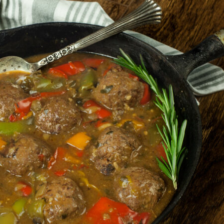 Cajun Meatballs and Peppers