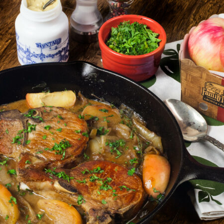 Pork Chops with Apple Onion Gravy